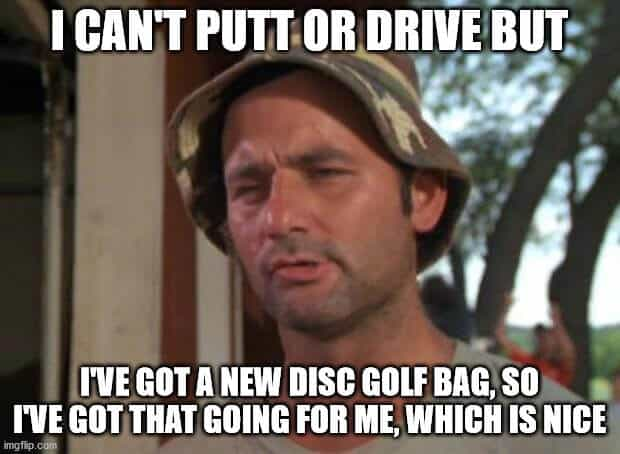 Putting and driving disc golf