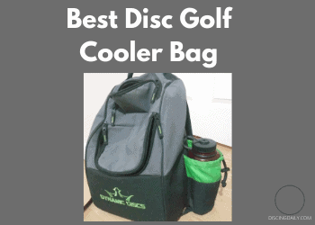 Disc golf bag with cooler